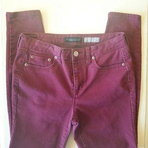 {Aeropostale} purple high waisted jeggings